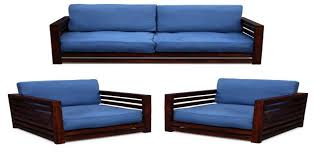 Three Seater Wooden Sofa Designs Decorate Your Living Room By Designer Cane Chair And Cane Table
