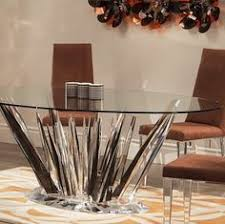acrylic dining table base shahrooz crystals dining table 60 5200 00 tables pinterest