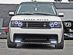 land rover sport custom land rover range rover v2 headlight led angel eyes halo kit