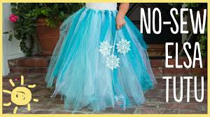 diy how to make a no sew tutu easy halloween costume youtube