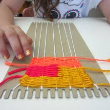 Basic Diy Loom And Woven by Weaving On A Cardboard Loom Diy Pinterest Craft Activities