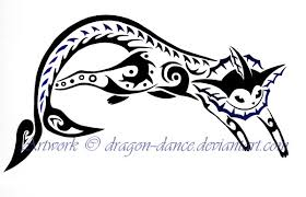 tribal vaporeon tattoo commission by dansudragon on deviantart
