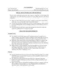 social media resume social media resume sle best marketer and social media
