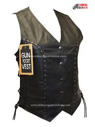 leather motorcycle vest ladies motorcycle studded riders black soft leather vest extreme