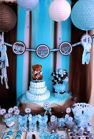 teddy baby shower theme brown and blue teddy theme baby boy shower party ideas