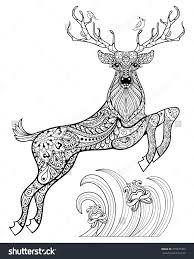 coloring page deer pages of baby animal antlers printable free