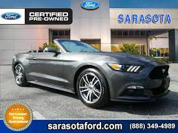 pre owned ford mustang certified pre owned 2016 ford mustang ecoboost premium convertible