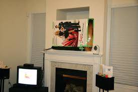Mounting Tv Over Brick Fireplace by Install Tv Above Brick Fireplace Hang Over Stone Hide Cables