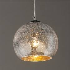 Crackle Glass Pendant Light Mini Crackled Mercury Bowl Pendant Light Shades Of Light Regarding