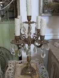 Chandelier Desk Lamp Vintage Elegance Crystal Candelabra Table Lamp By Sheriscrystals