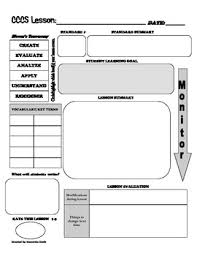 common core lesson plan template with bloom u0027s taxonomy common