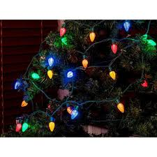 Commercial Grade String Lights by 50 Count C7 Led Commercial Grade String Light Set Indoor Outdoor