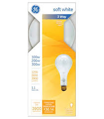 100 200 300 light bulb ge lighting 41459 100 200 300 watt 3 way soft white mogul base light