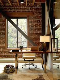 office design product design office layout industrial office modern industrial office interior design exposed brick wall backdrop is perfect for the industrial home office