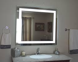 Lit Bathroom Mirror Wall Mounted Lighted Vanity Mirror Led Mam84036