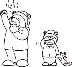 hibernating bear coloring page free printable coloring pages
