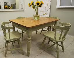 Best Painted Chairs Images On Pinterest Painted Chairs - Farmhouse kitchen table with drawers