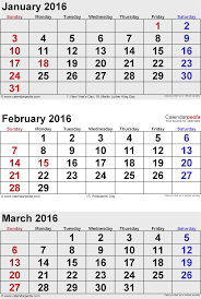 march 2016 calendars for word excel pdf