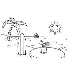 download summer beach coloring pages