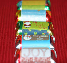 christmas candy wrapper template
