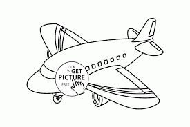 small airliner coloring page for toddlers transportation coloring