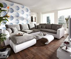 sofa grau weiãÿ ledercouch grau daredevz