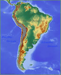 Map Of The United States With Landforms by Physical Map Of South America