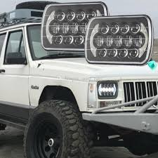 jeep wrangler square headlights 2017 5 x 7 led headlight square headl for jeep wrangler yj
