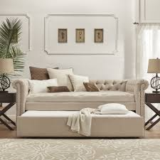 Wood Daybed With Pop Up Trundle Upholstered Daybed With Pop Up Trundle Amys Office