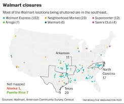 Walmart Map Wal Mart U0027s Closures Leave Gaping Voids Throughout Small Town