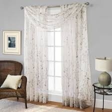 buy scarf panel curtains from bed bath u0026 beyond