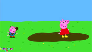 peppa pig and suzy sheep jumping in muddy puddles peppa pig games