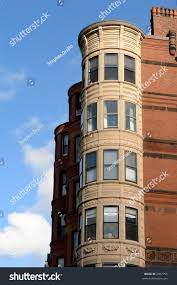 ornate rounded bay windows on old stock photo 2007750 shutterstock