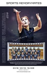orange crush volleyball sports memory mate photoshop template