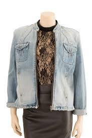 light distressed denim jacket jeans west light blue distressed denim jacket preloved size 10