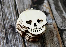 Halloween Wedding Favors 10 Sugar Skulls Wood Tags Sugar Skull Wedding Favors Day Of