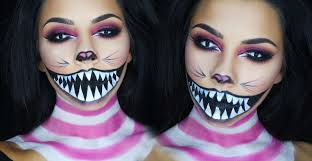 half halloween makeup cheshire cat halloween makeup tutorial tinakpromua youtube