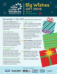 gift cards for kids big wishes gift drive the home for wanderers