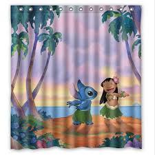 Custom Size Shower Curtains Lilo Series Ohana Lilo And Stitch Custom Shower Curtain Dream