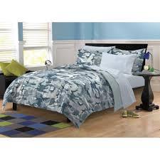Blue Camo Bed Set Bedroom Cool Baby Nursery Room Decoration Using Rectangular