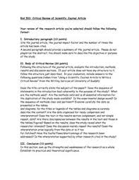 critical analysis of a journal article article review