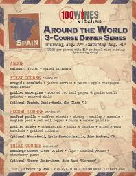 around the world dinner series at 100 wines hillcrest just my ticket