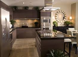 Black And Brown Kitchen Cabinets Kitchen Stainless Top Mount Sinks Brown Wooden Flooring Brown