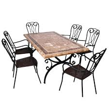 Europa Stone Monte Carlo Dining Table With  Verona Chair  Next - Monte carlo dining room set