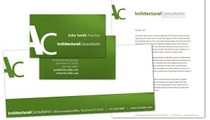 unique design architect a4 letterhead template
