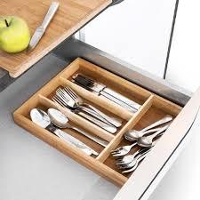 rangement pour ustensiles cuisine range couverts en bambou bac à ustensiles de cuisine rangement pour
