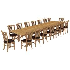 reclaimed teak dining room table reclaimed teak wood 17 piece large dining table chair set