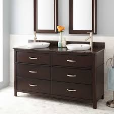 double sink espresso finish vanity signature hardware