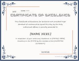 Free Certificate Of Excellence Template Certificate Of Excellence For Ms Word At Http
