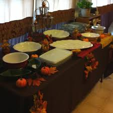 buffet table layout for thanksgiving dinner for the home